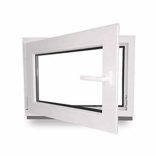 Kellerfenster Kunststoff weiß