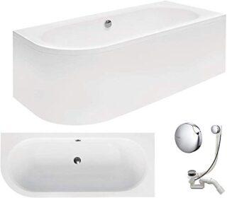VBChome Badewanne, 170×75 cm, Acryl, weiß, für 2 Personen