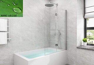 Badewannen Duschabtrennung, 5mm, Nano Glas