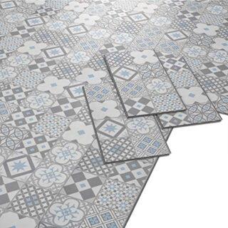 ARTENS Vinylfliese, Zement-Muster, 1,49m²/8 Fliesen