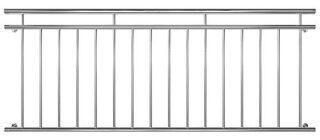 V2Aox Edelstahl Französischer Balkon, Geländer, 90×100-225cm