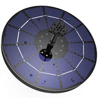 AISITIN Solarbrunnen, 3.5W Solar Panel, 6 Fontänenstile