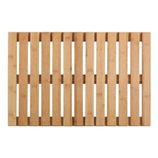 WENKO Baderost für Gartendusche, Bambus, 40x60cm