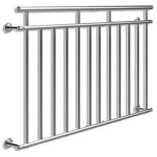 Monzana Geländer, für Balkon, Edelstahl, 90x156cm