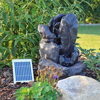 CLGarden Solar Springbrunnen NSP14, Wasserspiel mit LED