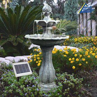 AMUR Solar Gartenbrunnen, mit Beleuchtung