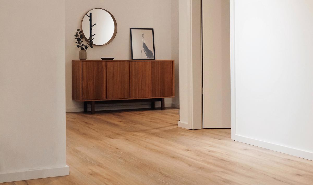 Fußboden mit Holzoptik