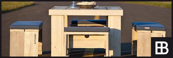 Hochwertige Terrassenmöbel aus Holz