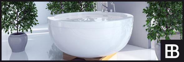 Stylische, freistehende Badewanne