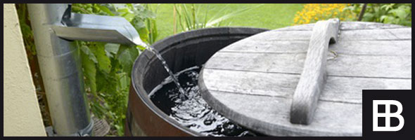 Weinfässer im Garten